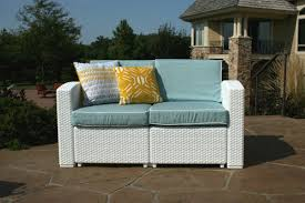 Outdoor Patio Loveseat Strata Furniture Cielo Patio Loveseat With Cushions Wayfair