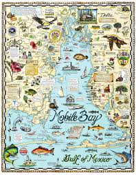 Florida Alabama Map by Explore Mobile Bay Custom Map Art By Melissa Smith Venice