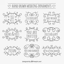 wedding ornament collection vector free