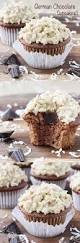 check out german chocolate cupcakes with german chocolate ganache