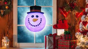 hanging blow mold snowman head with swirling light youtube