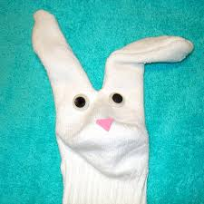 easter bunny sock puppet parenting