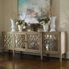 Buckingham Interiors Beautiful Reclaimed Wood And Mirror Paneled - Dining room sideboard