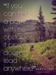 If you can find a path with no obstacles it probably doesn t lead