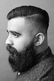 long hair on men over 60 undercut with beard haircut for men 40 manly hairstyles
