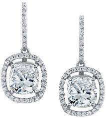 diamond drop earrings floating diamond halo drop earrings