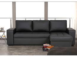 conforama fr canapé canapé d angle convertible et réversible 4 places romy coloris noir