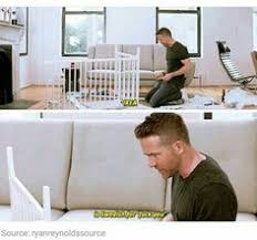 ryan reynolds ikea ryan reynolds attempts to build an ikea crib and ends up showing