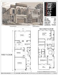 Center Hall Colonial Floor Plans Narrow Urban Home Plans Small Narrow Lot City House Plan Narrow