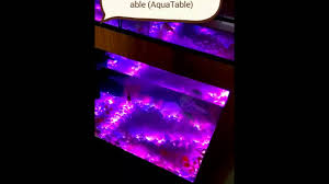 led therapeutic coffee table freshwater aquarium fish tank with