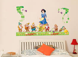 snow white wall sticker xcm transparent removable pvc snow white wall sticker xcm transparent removable pvc cling princess room decor free shipping mixable
