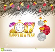 merry and happy new year 2017 background stock vector