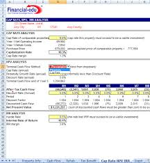 Discounted Flow Analysis Excel Template Residential Estate Excel Model Financial Edu Model Advisor