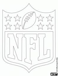 logo of the nfl national football league coloring page food