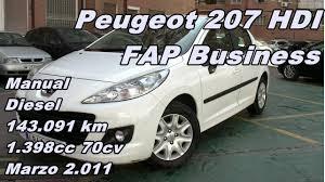 peugeot 207 hdi fap business 11 manual diesel 70cv 143 091km