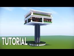 minecraft easy modern house modern tree house best modern