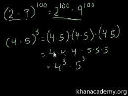 exponent rules intro video khan academy