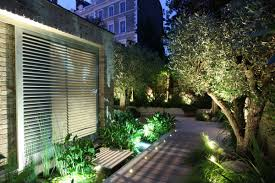 eksterior classic portable outdoor lighting ideas for backyard