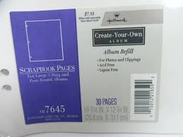 refill pages for photo albums hallmark scrapbook refill pages hallmark scrapbook refill pages