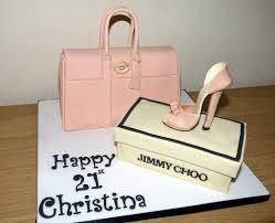 pink mulberry handbag cake with jimmy choo shoe susie u0027s cakes