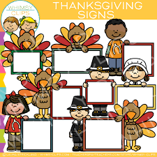 blank thanksgiving signs clip images illustrations