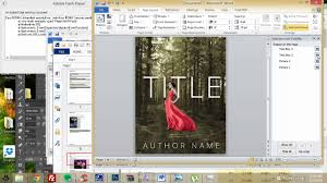 how to make an ebook cover in microsoft word part 1 youtube