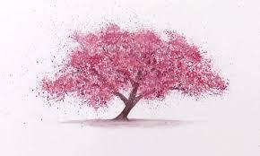 blossom trees watercolor technique to splatter cherry blossom trees