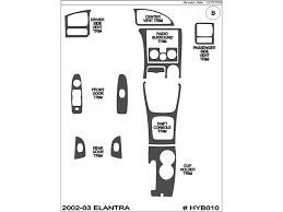 2003 hyundai elantra kit 2002 2003 hyundai elantra brushed aluminum dash trim kit