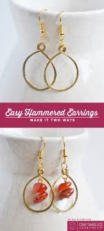 easy earrings craftaholics anonymous hammered earrings tutorial