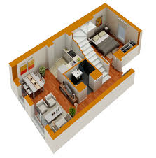 small house floorplans tiny house floor plans small residential unit 3d floor plan 3d