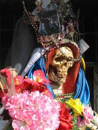robe de mariã e colorã e santa muerte