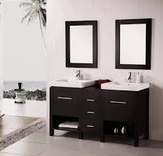 above toilet shelf floor to ceiling framed windows floating vanity