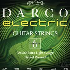 Light Guitar Strings by Muta Di Corde Per Elettrica Martin Darco D9300 Extra Light