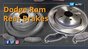 dodge ram 1500 brake pads how to install replace rear brake pads and rotors 2002 10 dodge