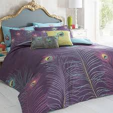 peacock bedding collection by matthew williamson purple
