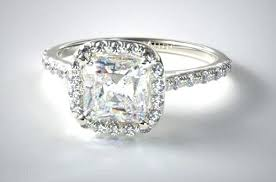 2ct engagement rings awesome pillow cut engagement rings or 2 carat cushion cut halo