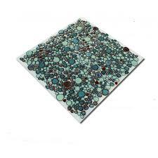 Kitchen Wall Backsplash Panels by Green Porcelain Tile Pebbles Bath Wall Backsplash Tiles Glazed Ceramic