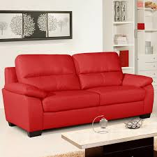 vibrant red leather sofa collection