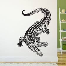 online get cheap mural stencils aliexpress com alibaba group crocodile alligator wall art vinyl sticker decal decor living room bedroom home interior mural stencil