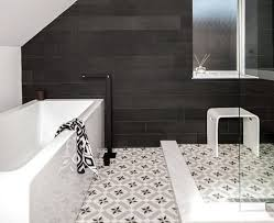 Bathroom Floor Tile Designs Simple Black And White Bathroom Floor Tile Design Flooring Ideas