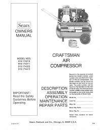 craftsman air compressor model 919 manual ac gallery air