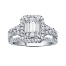 bridal set diamond bridal set 14k white gold 1 ct tw switzerland