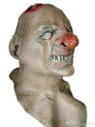 scary zombie latex mask realistic bloody head halloween costume