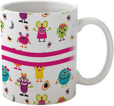 girly monsters coffee mug personalized baby n toddler