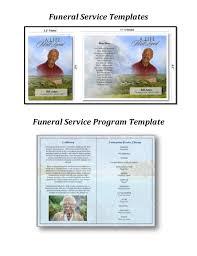 zachary douglass llc funeral service program template