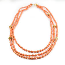orange bead necklace images Orange paper bead necklace pharaoh daughters jpg