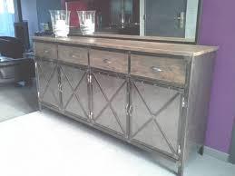 meuble cuisine acier meuble industriel îlot centrale de cuisine meubles et rangements