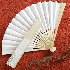 paper fan set of 100 white paper fans wedding favors kitchen