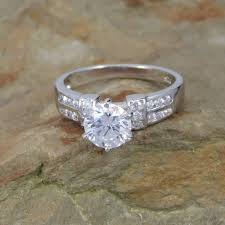 tiffany setting rings images Sterling silver round cut 1 carat cz tiffany setting engagement JPG
