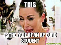 Ap Euro Memes - this is the face of an ap euro student make a meme